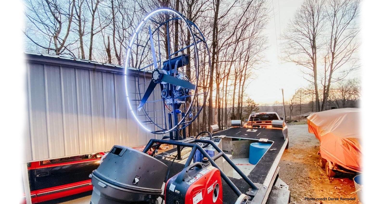 Bowfishing pusher fan